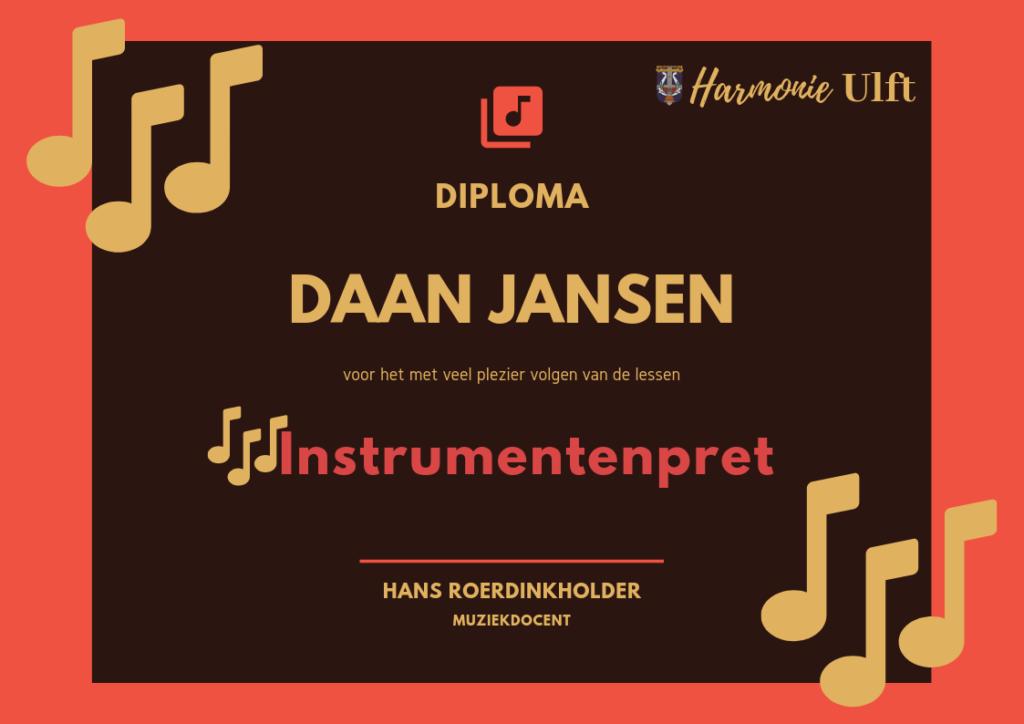 Diploma Instrumentenpret